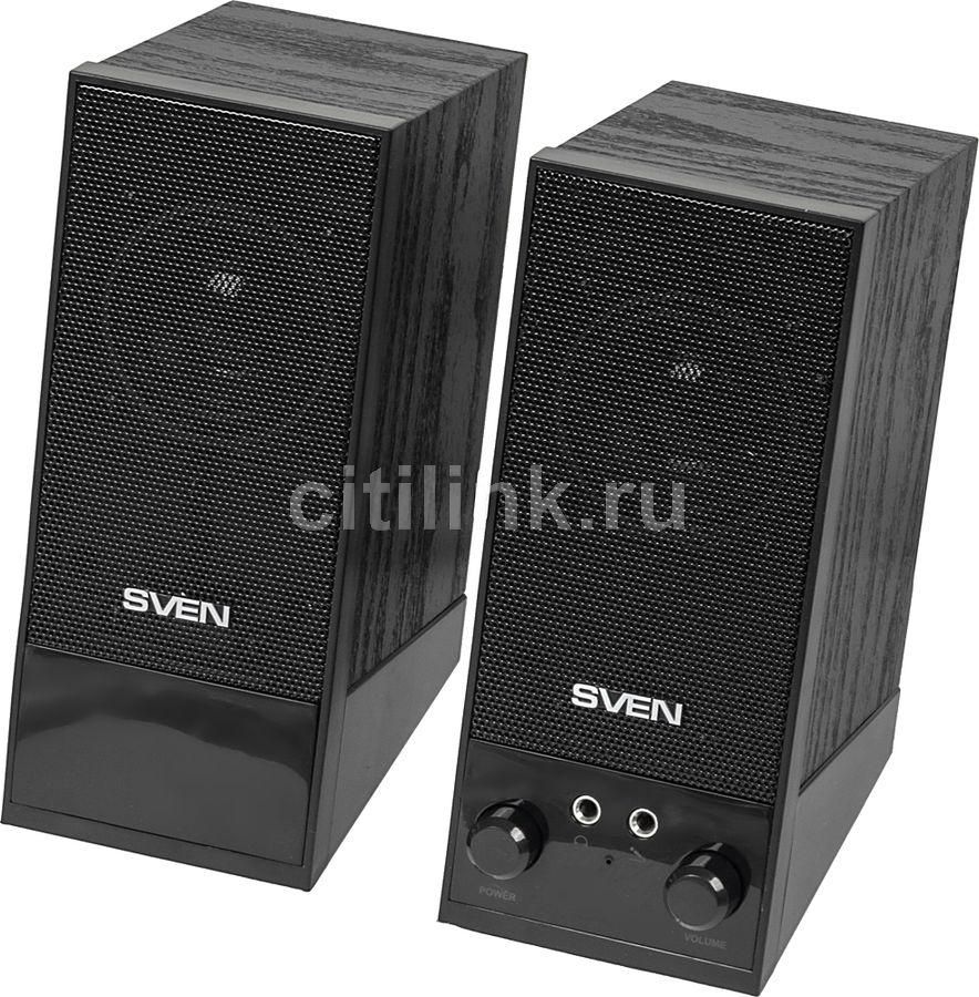 Колонки SVEN SPS-604,  черный [sv-0120604bk]