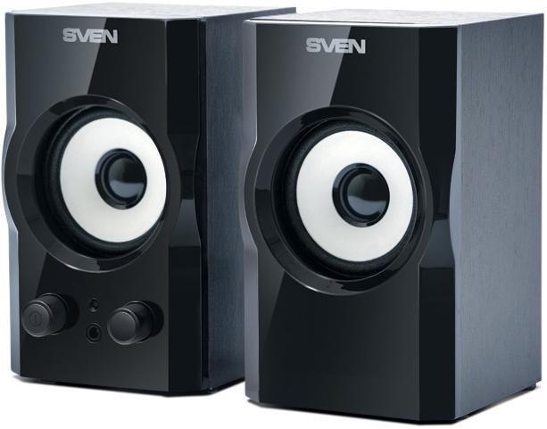 Колонки SVEN SPS-605,  черный,  серый [sv-0120605bl]