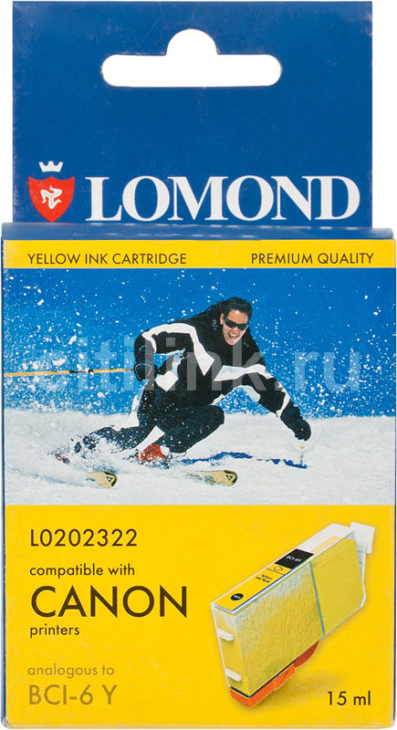 Картридж LOMOND BCI-6Y желтый [l0202322]