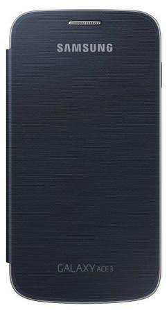 Чехол (флип-кейс) SAMSUNG EF-FS727BBEGRU, для Samsung Galaxy Ace 3, черный