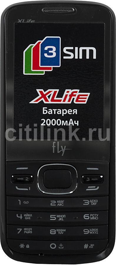 Мобильный телефон FLY TS110  черный