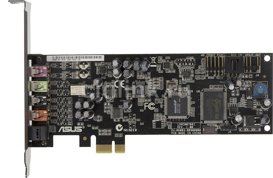 Звуковая карта PCI-E ASUS Xonar DGX, 5.1, Ret звуковая карта asus pci e rog xonar phoebus c media cmi8888dht 7 1 5 1 digital s pdif out dolby digital live rtl