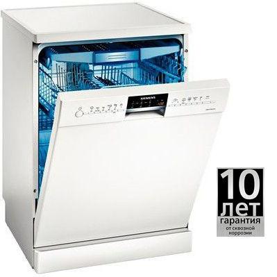 Посудомоечная машина SIEMENS SN26M285RU,  полноразмерная, белая