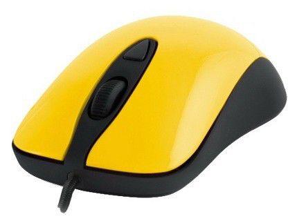 Мышь STEELSERIES Kinzu v2 оптическая проводная USB, желтый и черный [62023]