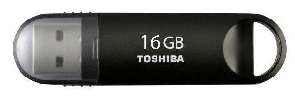 Флешка USB TOSHIBA Suzaku U361 16Гб, USB3.0, черный [thn-u361k0160m4]