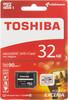 Карта памяти microSDHC UHS-I U3 TOSHIBA M302 32 ГБ, 90 МБ/с, Class 10, THN-M302R0320EA,  1 шт., переходник SD вид 1