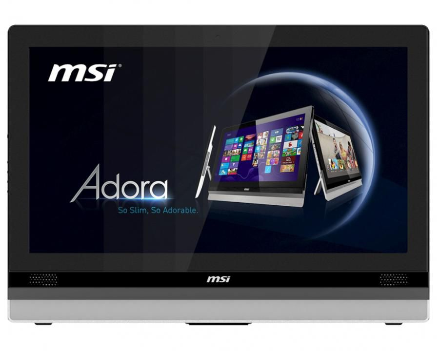 Моноблок MSI Adora24 0M-025, Intel Core i3 3120M, 8Гб, 1000Гб, Intel HD Graphics 4000, DVD-RW, Windows 8, черный и серебристый [9s6-ae6113-025]