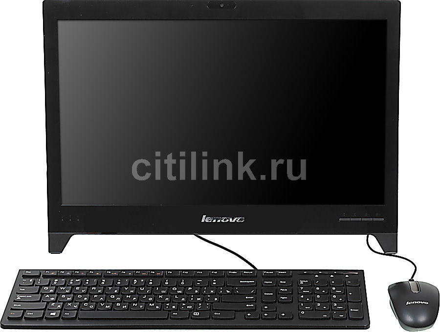 Моноблок LENOVO C240, Intel Celeron 1017U, 4Гб, 500Гб, Intel HD Graphics, DVD-RW, Windows 8, черный [57319857]