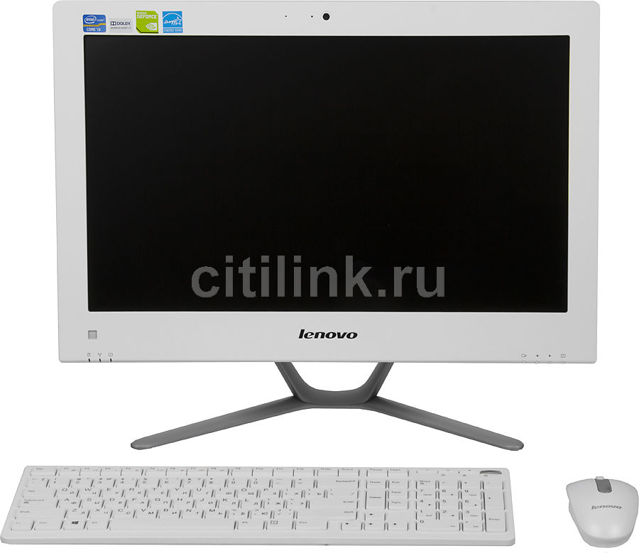 Моноблок LENOVO C340, Intel Core i3 3240, 4Гб, 1000Гб, nVIDIA GeForce 705M - 2048 Мб, DVD-RW, Windows 8, белый и серебристый [57319835]