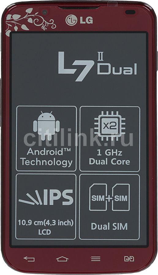 Смартфон LG Optimus L7 II Dual P715  красный