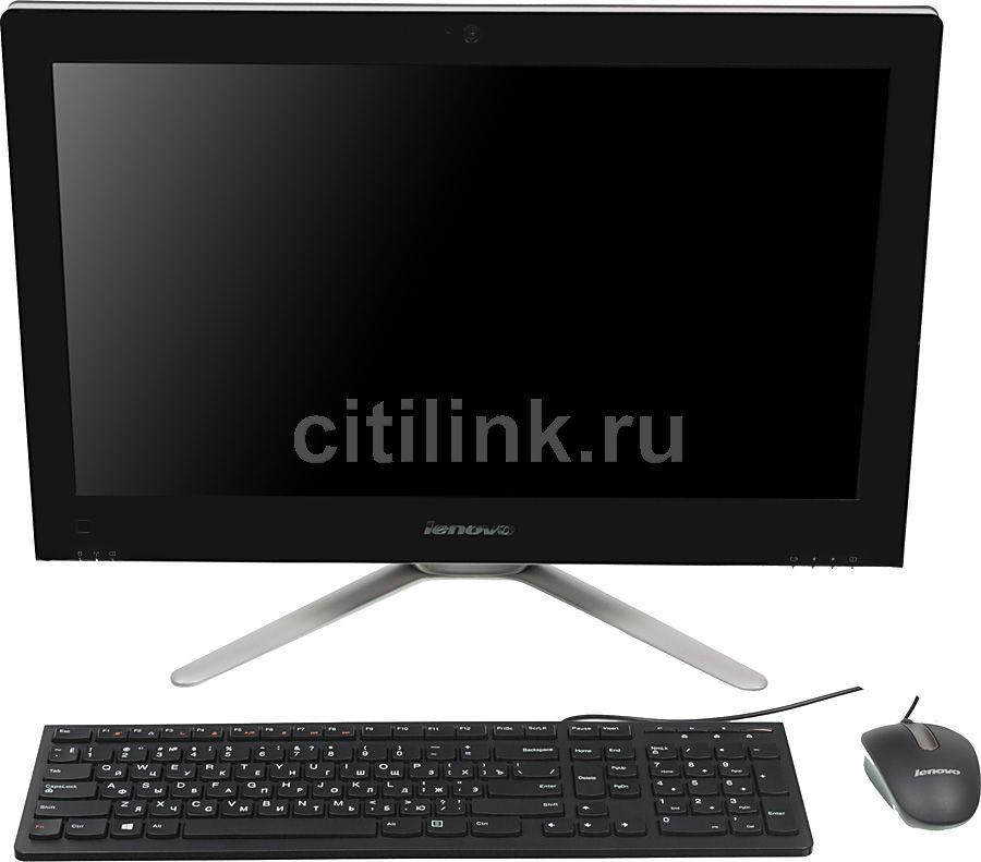 Моноблок LENOVO C440, Intel Core i3 3240, 4Гб, 1000Гб, nVIDIA GeForce 705M - 2048 Мб, DVD-RW, Windows 8, черный и серебристый [57319803]