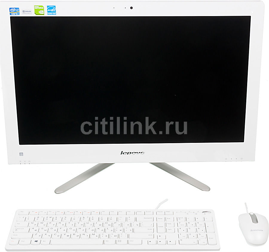 Моноблок LENOVO C540, Intel Core i5 3330S, 4Гб, 1000Гб, nVIDIA GeForce 705M - 2048 Мб, DVD-RW, Windows 8, белый и серебристый [57319554]