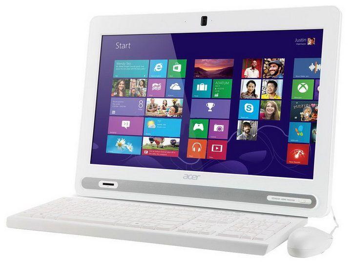 Моноблок ACER Aspire ZC-602, Intel Celeron 1017U, 2Гб, 500Гб, Intel HD Graphics, DVD-RW, Free DOS, белый [dq.stger.001]