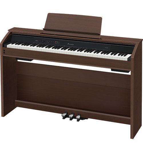 Цифровое фортепиано PRIVIA CASIO PX-850BN, 88, полновзвешенная, полноразмерные, 256, коричневый