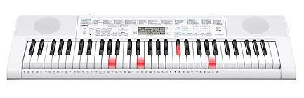 Синтезатор CASIO LK-247, 61, невзвешенная, полноразмерные, 150, белый