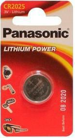 Батарея PANASONIC Lithium Power CR2025EL,  1 шт. CR2025,  165мAч