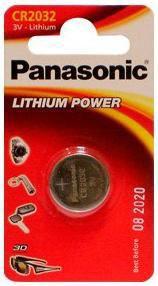 Батарея PANASONIC Lithium Power CR2032EL,  1 шт. CR2032,  220мAч