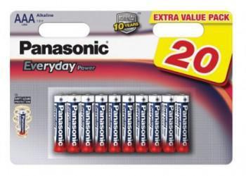 Батарея PANASONIC Everyday Power LR03EPS/20BW LR03,  20 шт. AAA
