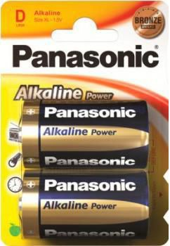 Батарея PANASONIC Alkaline Power LR20APB/2BP LR20,  2 шт. D