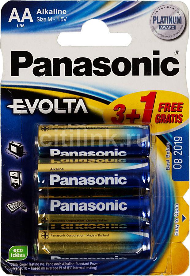 Батарея PANASONIC Evolta LR6,  4 шт. AA