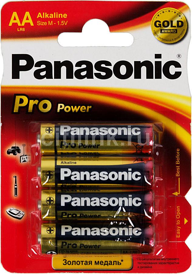 Батарея PANASONIC ProPower LR6PPG/4BP LR6,  4 шт. AA