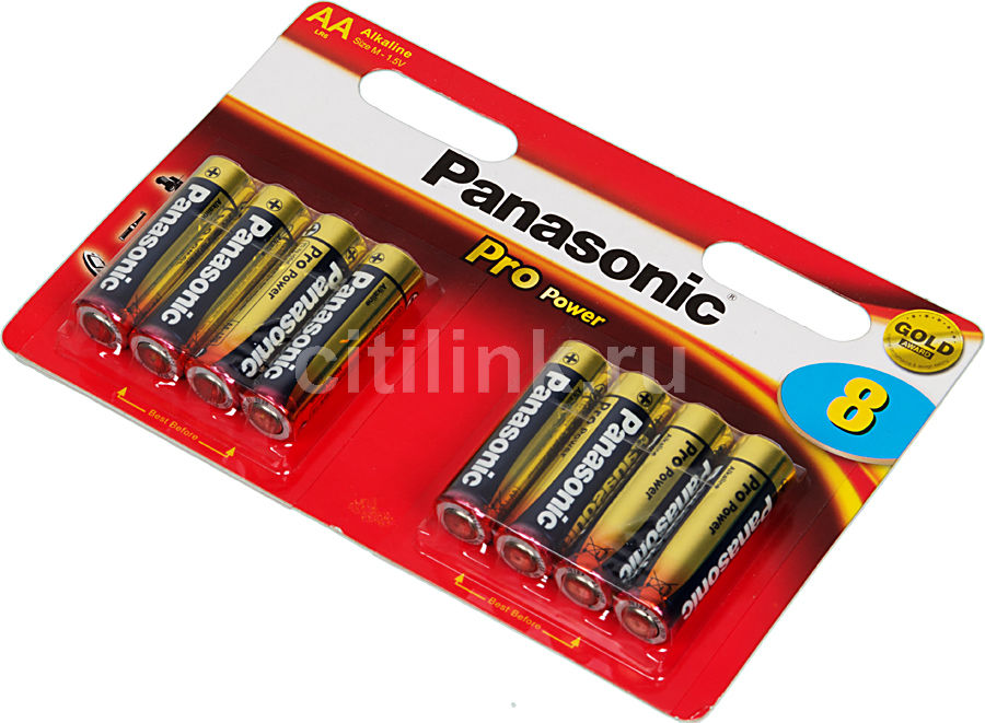 Батарея PANASONIC ProPower Gold LR6,  8 шт. AA