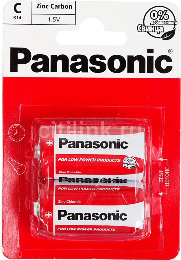Батарея PANASONIC Zink Carbon R14RZ/2BP R14,  2 шт. C