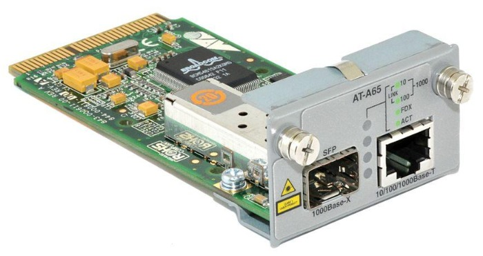 Модуль Allied Telesis AT-A65 10/100/1000T / SFP (1000Mps) uplink