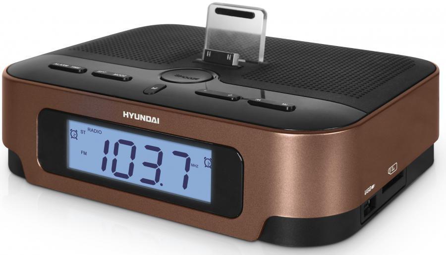 Аудиомагнитола HYUNDAI H-AS1202iu,  коричневый
