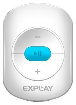 MP3 плеер EXPLAY A1 flash 4Гб белый/голубой