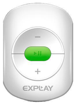 MP3 плеер EXPLAY A1 flash 4Гб белый/зеленый