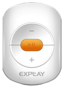 MP3 плеер EXPLAY A1 flash 4Гб белый/оранжевый
