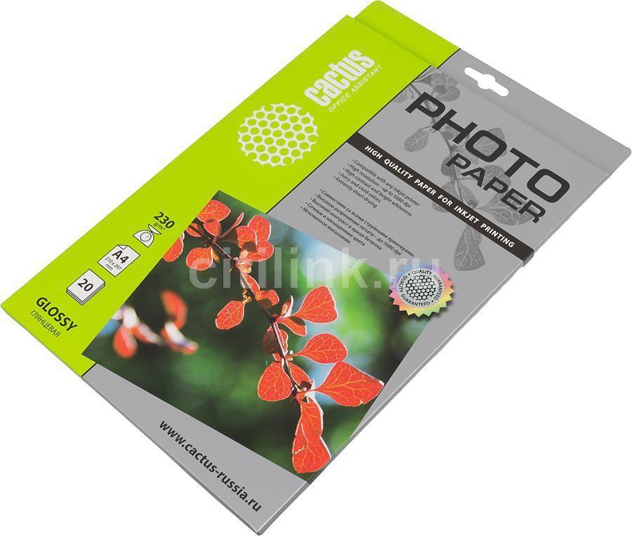 Фотобумага Cactus CS-GA423020 A4/230г/м2/20л./белый глянцевое для струйной печати