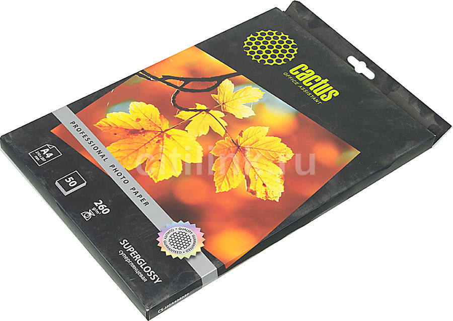 Фотобумага Cactus Prof CS-HGA426050 A4/260г/м2/50л./белый глянцевое для струйной печати