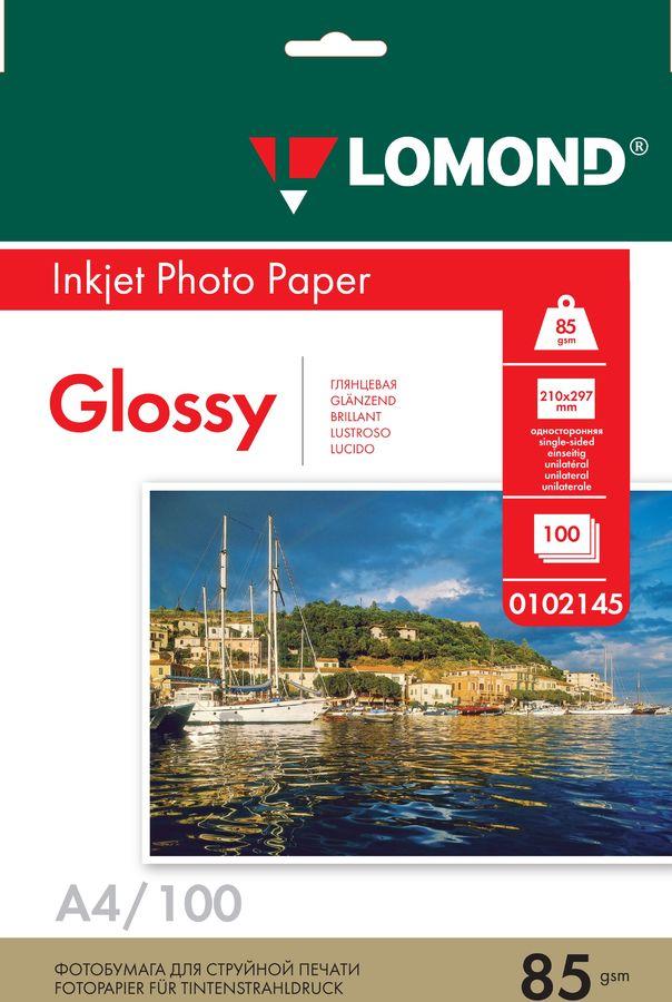 Фотобумага Lomond 0102145 A4/85г/м2/100л./белый глянцевое для струйной печати