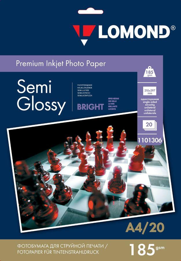 Фотобумага Lomond 1101306 A4/185г/м2/20л./белый полуглянцевое для струйной печати