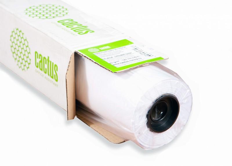 """Бумага Cactus CS-PC140-61030 24""""(A1) 610мм-30м/140г/м2/белый универсальная (с покрытием) втулка:50.8"""
