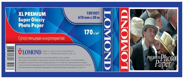 Фотобумага Lomond 1201021 610x30x50.8/170г/м2 суперглянцевая повышенного качества