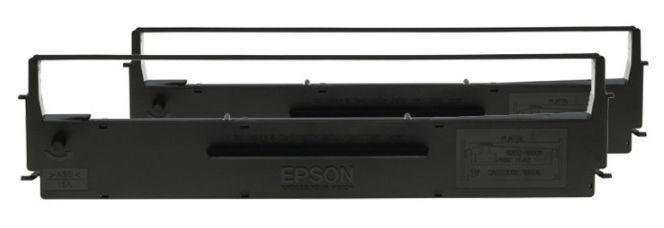 Двойная упаковка картриджей EPSON C13S015019BA черный