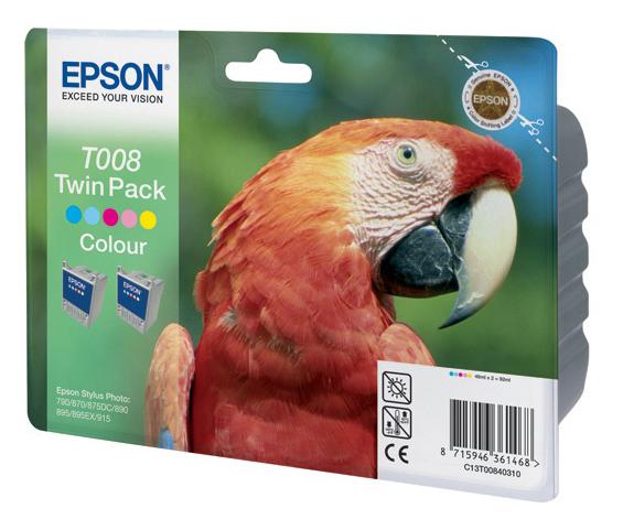 Двойная упаковка картриджей EPSON C13T00840310 многоцветный