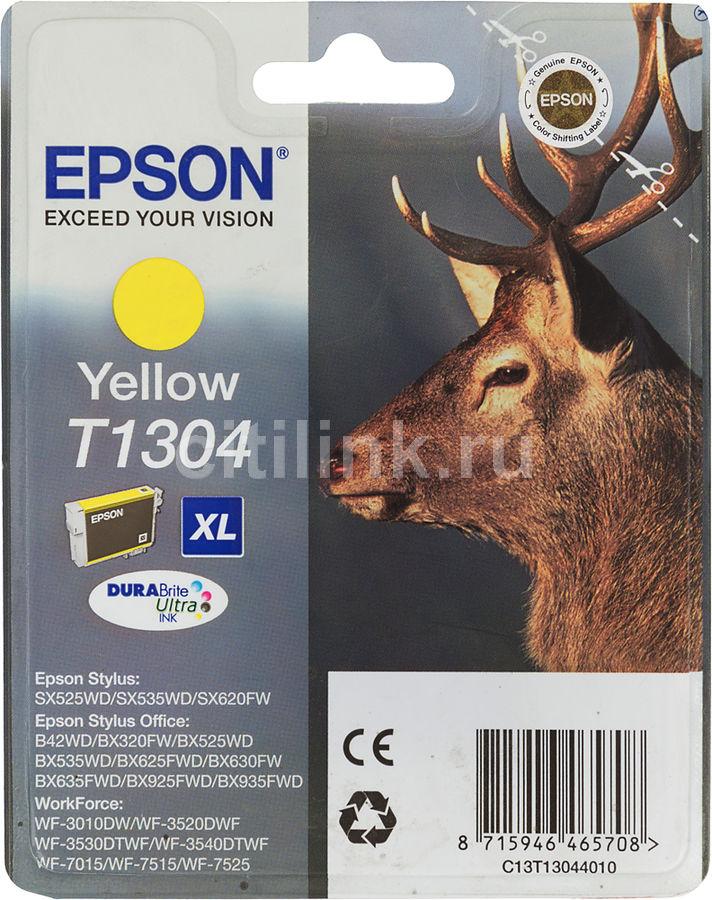 Картридж EPSON T1304 желтый [c13t13044010]