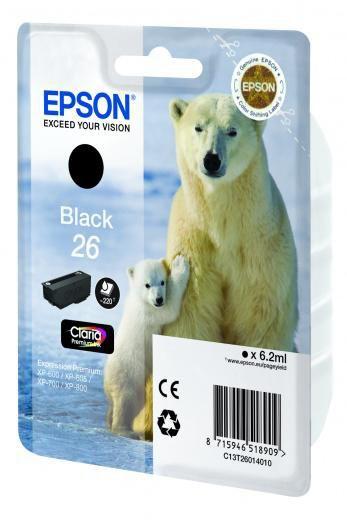 Картридж EPSON T2601 черный [c13t26014010]