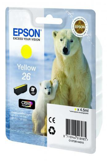 Картридж EPSON T2614 желтый [c13t26144010]