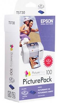 Картридж струйный Epson C13T573040 PicturePack 100 (135стр.) +PictureMate Photo Paper