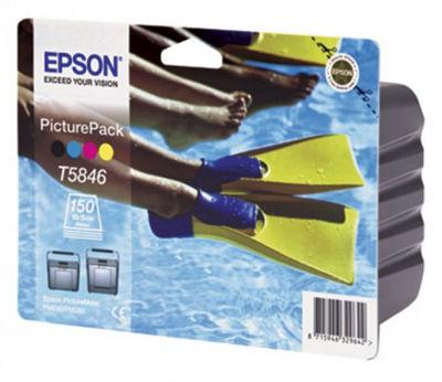 Картридж струйный Epson C13T58464010 для Epson PictureMate: Фотокартридж + фотобумага (150л.)