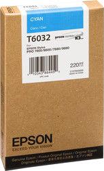 Картридж EPSON T6032 голубой [c13t603200]