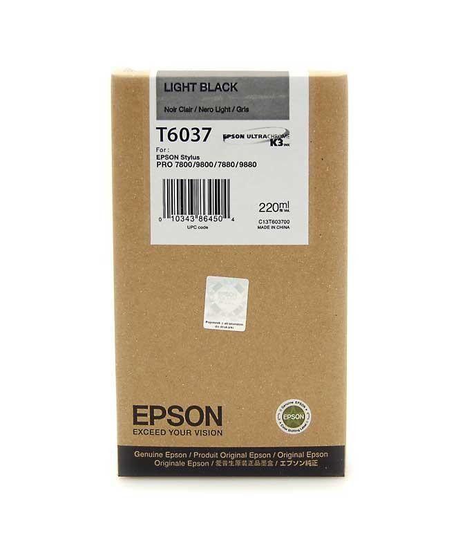 Картридж EPSON T6037 серый [c13t603700]