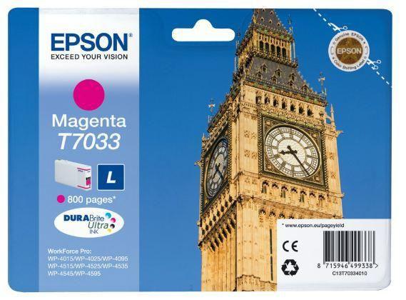Картридж EPSON C13T70334010 пурпурный