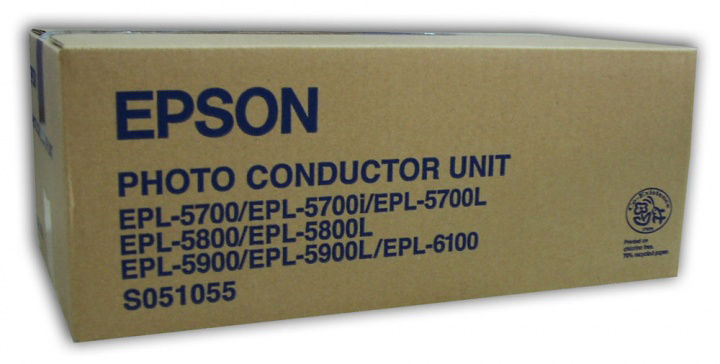 Фотобарабан(Imaging Drum) EPSON C13S051055 для EPL-5700/EPL-5700i/EPL-5700L/EPL-5800/EPL-5800L/EPL-5900/EPL-5900L/EPL-6100
