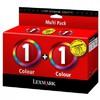 Двойная упаковка картриджей LEXMARK 80D2955 многоцветный вид 1